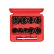 """SONIC Equipment SONIC 10-delige set 3/8""""spiraaldoppen"""