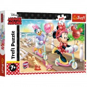 Puzzle clasic pentru copii - Minnie Mouse distractie la plasa, 200 piese, Trefl