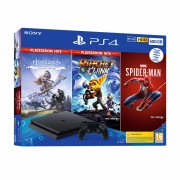 PlayStation 4 (PS4) Slim 500GB + Marvel's Spiderman + Horizon Zero Dawn + Ratchet and Clank (HITS Bundle) Console