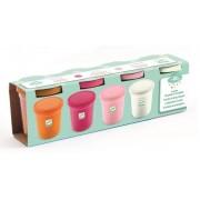 Zestaw 4 sztuk masa plastyczna kolory pastelowe SWEET DJ09026