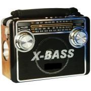 Radio portabil cu lanterna, 3 benzi AM/FM/SW, card SD/USB, MP3, XB-3067URT