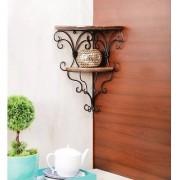 Onlineshoppee Beautiful Wooden Decorative Corner Wall hanging Bracket Shelf/Selves for Living Room/Bed Room Decoration S