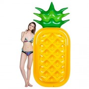 sumuya Pool Float, Lounger Swimming Inflatable PVC Floats Raft with Rapid Valves Seat Boat Float Swim Ring for Summer Party Games Toy Pineapple
