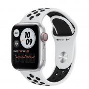 Apple Watch Nike Series 6 GPS + Cellular 40mm Alumínio Prateado Bracelete Nike Sport Platina Puro/Preto