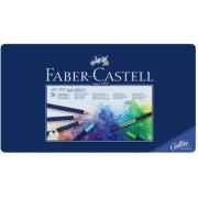 Creioane colorate 36 culori Aquarelle Art Grip cutie metal Faber-Castell