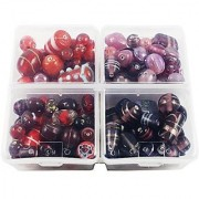 eshoppee Fancy glass beads for jewelery making and home decoration 300 gm mixing set 115 Beads Approx