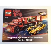 "INSTRUCTION MANUALS for Lego Racers Set #8160 ""Cruncher Block & Racer X"""