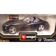 Burago 3065 1993 Dodge Viper RT/10 - Black Convertible - Diecast - 1:18 Scale