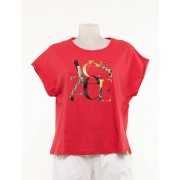 Yes Zee T-Shirt Con Logo Stampato Rosso