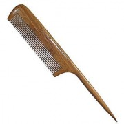 Rat Tail Comb New Star Anti-Static Green Sandalwood Comb Fine-tooth Comb with Thin and Long Handle