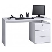 Computer Bureau Abby - Wit met Hoogglans wit