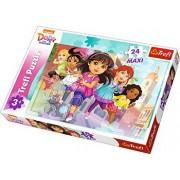 Puzzle maxi Dora alearga, 24 piese
