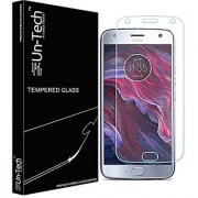 Un-Tech Tempered Glass Screen Protector for Motorola Moto X4 with Installation Kit
