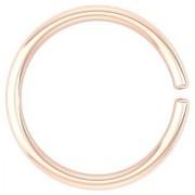 PeenZone 18k Rose Gold Plated Nose Ring (Bali) For Women Girls