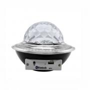 Glob disco cu LED RGB jocuri de lumini si MP3 prin Bluetooth Crystal Magic Balll