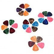 0.96mm : SevenMye Assorted Celluloid Guitar Picks Plectrums 0.46 mm, 0.71 mm, 0.96 mm, 100 Pack