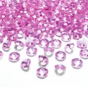 Merkloos 100x Hobby/decoratie fuchsia roze diamantjes/steentjes 12 mm/1,2 cm