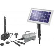 Sistem de pompă solară Rimini Plus cu acumulator 5 x 1,2 V/1,3 Ah, 3,5 Wp, max. 0,6 m înălţime de refulare