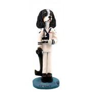 Cavalier King Charles Spaniel Blackwhite U.S. Navy Doogie Collectable Figurine