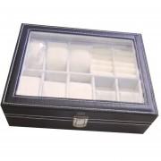caja organizadora 6 relojes con joyero