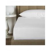 Sábana bajera ajustable 200x200 cm + 30 cm - Sábana bajera cama 200 - Sábana blanca algodón percal