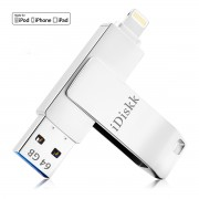IDISKK 64GB MFI Lighnting 8Pin USB 3.0 Flash Drive for iPhone iPad Macbook PC