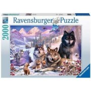 Puzzle Familie lupi iarna Ravensburger 2000 piese