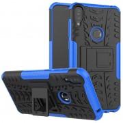 Capa Híbrida Antiderrapante com Função de Suporte para Asus Zenfone Max Pro (M1) - Preto / Azul