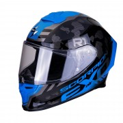Scorpion Casco Moto Integrale Exo-R1 Air Ogi Dark Silver Blue