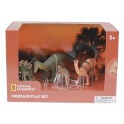 Set 4 figurine Pachycephalosaurus, Ankylosaurus, Brachiosaurus si puiul National Geographic, 3 ani+