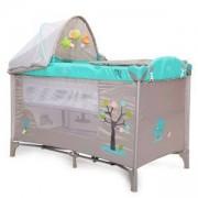 Бебешка кошара за спане и игра Moni Friend, зелена, 3563292