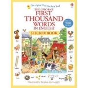 First 1000 Words in English Sticker Book by Stephen Cartwright