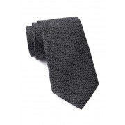 Calvin Klein Allover Logo Silk Tie BLACK