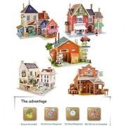 3D Puzzle Assembling Toy/Educational Game for Kids Decor Item - 2 Models Sets