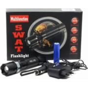 Lanterna SWAT LED 3W CREE Q5 Metalica Reincarcabila cu Acumulator Li-Ion 3.7V 5800mAh