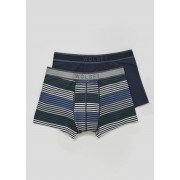 Matalan Mens Wolsey 2 Pack Hipster Boxers in Small, Blue
