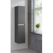 Bruynzeel hoge kast 40x35x175 cm. deur rechts zonder greep grafiet