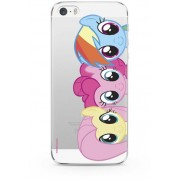 ERT Group My Little Pony - Fluttershy Pinkie Pie and Rainbow Dash Transparent Phone Case