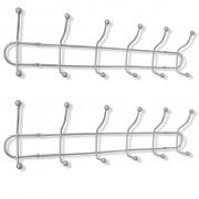 vidaXL Steel Wall Peg Board with 12 Hooks 2 pcs