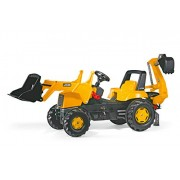 Rolly Toys JCB Backhoe Loader Tractor, Yellow
