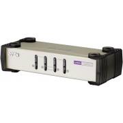 Switch KVM cu 4 porturi, VGA, USB, PS/2, 2048 x 1536 pixeli, ATEN CS84U-AT
