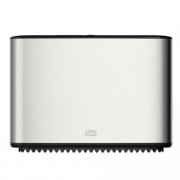 Toalettpapír adagoló, T2 rendszer, TORK \Mini jumbo\, metál-fekete