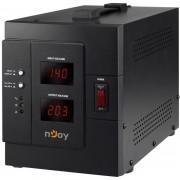 AVR nJoy Akin 3000, 3000VA/2400W, cu releu, LCD Display, functie de intarziere la pornire, functie de selectie a tensiunii, PWAV-30002AK-AZ01B (NJOY)
