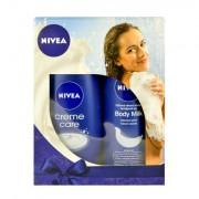 Nivea Creme Care Cream Shower Kit confezione regalo 250 ml crema cura crema doccia + 250 ml Body Nourishing latte scatola danneggiata
