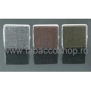 Tabachera metalica Egypt Design pentru 20 de tigari