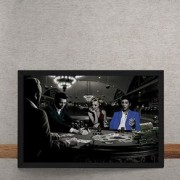 Quadro Decorativo Poker Marylin Monroe Elvis Presley James Dean Humphrey Bogart 25x35