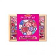 Wooden Sweet Hearts Bead Accessory Creation Set + FREE Melissa & Doug Scratch Art Mini-Pad Bundle [4