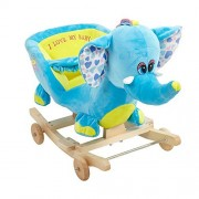 COLORTREE Plush Animal Rocking Horse Rock n Roll Horse Rocker with Wheels