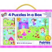 Set 4 puzzle uri Zane 12 16 20 24 piese Galt