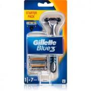 Gillette Blue3 Aparat de ras + rezervă lame 7 buc